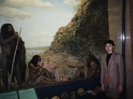 American Museum of Natural History, 1994: la Maria Lluïsa amb els seus avantpassats