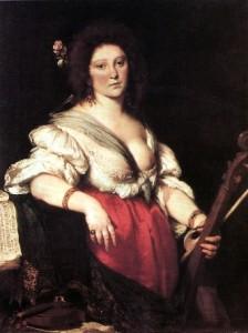 Retrat de Barbara Strozzi pintat entre 1635 i 1639 per Bernardo Strozzi (sense relació de parentesc)