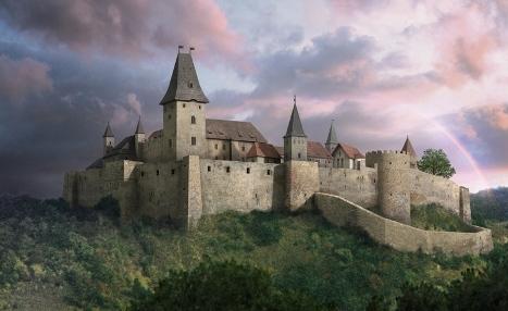 Recreació del castell de Čachtice per a la pel·lícula Bathory (2008)