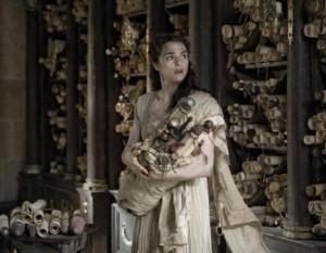 L'actriu Rachel Weisz interpreta Hipàtia al film Àgora (2009), del director Alejandro Amenábar