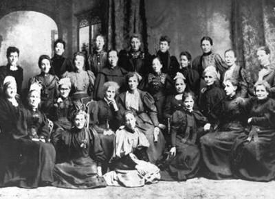 Foto de la primera reunió del Consell Nacional de la Dona de Nova Zelanda (NCW), abril del 1896