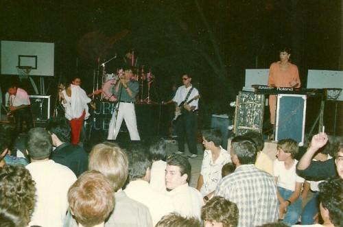 Actuació de Duble Buble al Club Infantil de Torelló, estiu del 1986