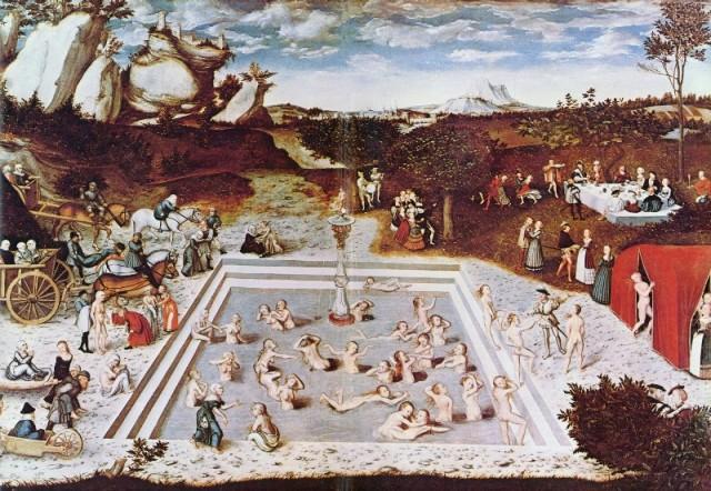 La font de l'eterna joventut, Lucas Cranach el Vell (1546)