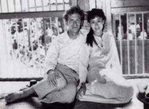 Suu Kyi amb el seu marit Michael Aris (foto de l'any 1973)