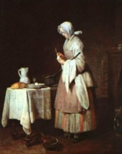La infermera atenta, Jean-Siméon Chardin (c. 1738)