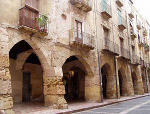 Porxos gòtics del carrer Merceria (Tarragona)