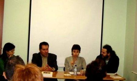 D'esquerra a dreta Txell Granados, Daniel Pi, Maria Lluïsa Latorre i Jesús Aumatell